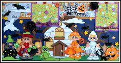 My Newest Layout now on ebay http://www.ebay.com/itm/Elite4u-Premade-Scrapbook-Layout-Page-Halloween-Trick-Treat-Paper-Piecing-Girl-/321525339160?