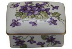 Vintage Floral Porcelain Box from Germany