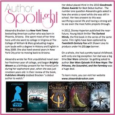 Check out this week's #AuthorSpotlight: #AlexandraBracken  #newyorktimes #bestsellingauthor #starwars