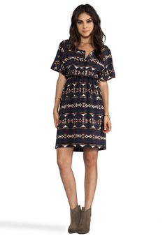 Want this dress and boots!  PENDLETON THE PORTLAND COLLECTION Nesika Dress in Multi Sonora Silk - Pendleton The Portland Collection