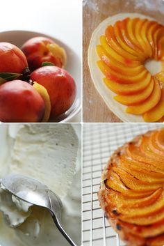 Nordljus: Tart Fine of Peach, Black Pepper Ice-cream
