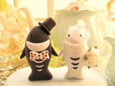 shark cake topper  - amusing and cute