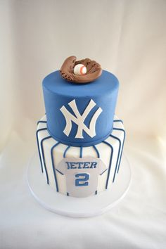 NY Yankees Groom's Cake   Kyrsten's Sweet Designs - Custom-made Cakes and Cookie Favors