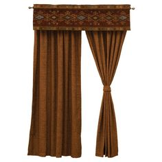 Wooded River Mountain Sierra Curtain and Valance Set - WOOR318