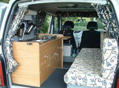 suzuki carry camper interior (more elaborate sink/cooker than I need but seating arrangement looks good) - Google Search