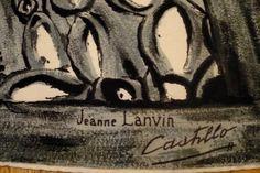 RaRE JEANNE LANVIN CASTILLO Vintage SCaRF 1950 par FeverVintage