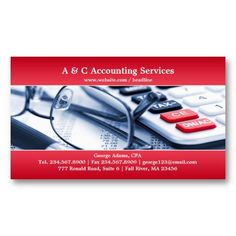 15 best accounting business cards templates images on pinterest elegant red accounting business card cheaphphosting Images