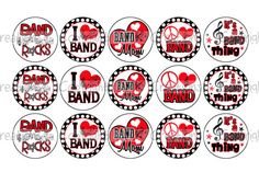 Hey, I found this really awesome Etsy listing at https://www.etsy.com/listing/91918116/i-love-band-red-bottle-cap-images-4x6