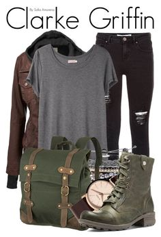 """Clarke Griffin"" by sofiaamorena ❤ liked on Polyvore featuring mode, Organic by John Patrick, Domo Beads, United by Blue, Nixon en Cobb Hill"