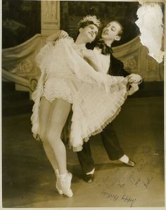 Martin Rubenstein & Kathleen Gorham, dancers in the J.C. Williamson / Borovansky Ballet production of Gay Rosalinda, 1946 / photographer Hal Williams  Gay Rosalinda was a ballet russe, based on the operetta Die Fledermaus by Johann Strauss II, traditionally given at New Year. Signed photograph presented to Maree Austin, a singer, dancer and actor  From the collection of the State Library of New South Wales http://acms.sl.nsw.gov.au/item/itemDetailPaged.aspx?itemID=954289