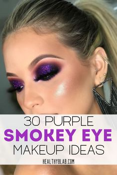 30 lila Smokey Eye Make-up-Ideen – – … - Makeup İdeas Graduation Smokey Eye Makeup Look, Purple Smokey Eye, Smokey Eyes, Dramatic Eye Makeup, Purple Eye Makeup, Eye Makeup Steps, Colorful Eye Makeup, Natural Eye Makeup, Purple Makeup Looks