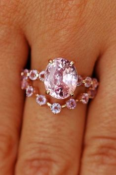 engagement ring trends pink sapphires unique band oval stone rose gold