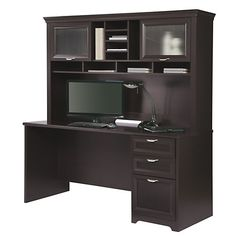 Realspace Magellan Performance Collection Straight Desk Espresso By Office  Depot U0026 OfficeMax