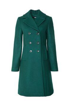 Emerald green coat   Hallhuber