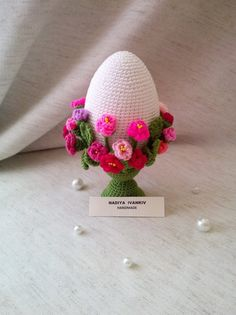 Easter egg Decorations Gift Ornaments Eggs with flowers Easter Tree Decorations, Easter Decor, Gifts For Family, Gifts For Friends, Small Rose, Egg Decorating, Handmade Items, Handmade Gifts, Easter Gift