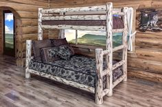 Amish crafted Twin/Full Bunk Bed SKU: MWBBTFN