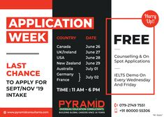 Education Consultant, School Advertising, Country Dates, Overseas Education, Uk Post, Ielts, Counseling, New Zealand, Wednesday