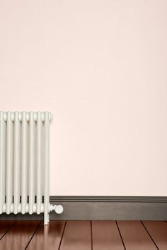Farrow & Ball palest of pink walls Kitchen Colour Schemes, Kitchen Colors, Farrow Ball, Pink Walls, Grey Walls, Blush Walls, Coloured Skirting Boards, Skirting Board Paint, Room Colors