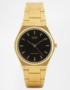 Casio Gold Stainless Steel Strap Watch MTP1130N-1A