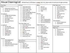 A whole house cleaning list! Things I never even thought of! Sweet- she has the pdf on her blog and will send the word doc if needed so you can edit it for your house cleaning needs!!!