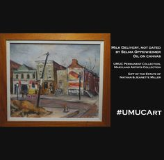 """This #UMUCArt piece is from our permanent collection by artist, Selma Oppenheimer, known for her bold experimentation in all media and was referred to as """"the dean of Maryland's women artists"""" by fellow artist, Bennard Perlman."""