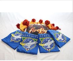 For a Browncoat Family! Two adult Tshirts (and hats!) and 2 kid sized Tshirts and hats all around a big comfy Firefly pillow. http://www.ebay.com/sch/m.html?_nkw=&_armrs=1&_ipg=&_from=&_ssn=californiabrowncoats&_sop=1