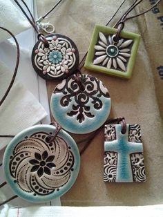 Pottery Jewelry $24. Proceeds help fund an adoption from Uganda! #Pottery #Art
