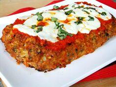 Proud Italian Cook: Chicken Parmesan Meatloaf   Mandarano Balsamic Glaze and Sauce
