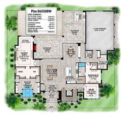 Modern Mediterranean House Plan With Elevator - 86058BW   Architectural Designs - House Plans