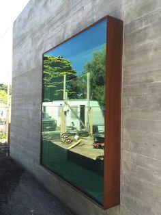Facade Design, House Design, Steel Cladding, Window Glazing, Porch And Balcony, Modern Windows, Garden Studio, Steel House, House Extensions