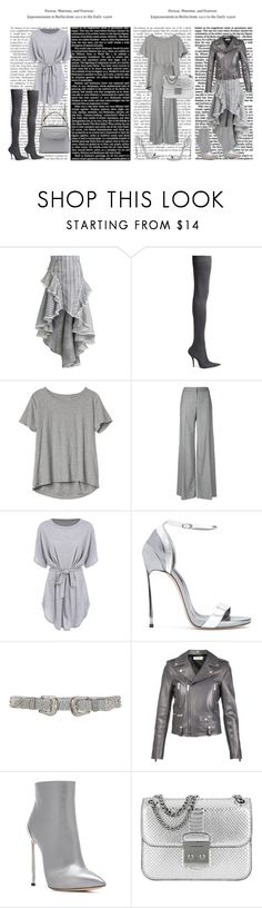 """""""Grey edit"""" by molly-h-james ❤ liked on Polyvore featuring Zimmermann, Balenciaga, Gap, Alexander McQueen, Casadei, B-Low the Belt, Yves Saint Laurent, Michael Kors and Fendi"""