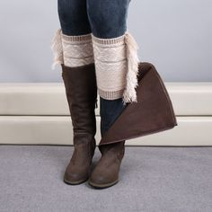 Fall Faves! Totally Fringed Boot Toppers Khaki New! Trending this fall crochet knit, fringed out boot toppers/cuffs/leg warmers! Get yours today! Accessories