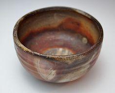 AMAZING JAPANESE BIZEN TEA CEREMONY BOWL Stoneware Chawan Chado Matcha Pottery