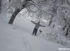 Bosque blanco.  Viajar a San Martín de los Andes en invierno tiene premios como este: hacer un trekking con raquetas de nieve por el bosque de la base del Cerro Chapelco en medio de una nevada. Delicias de invierno.
