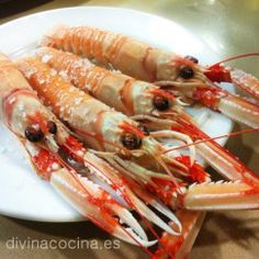 CIGALAS Seafood Dishes, Sushi, Shrimp, Food And Drink, Appetizers, Cooking Recipes, Meat, Gastronomia, Fish