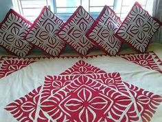 Peacock Embroidery Designs, Applique Designs, Indian Arts And Crafts, Diy Arts And Crafts, Handmade Bed Sheets, Ribbon Embroidery Tutorial, Embroidery Thread, Applique Cushions, Coat Pattern Sewing