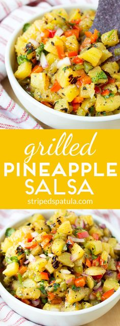 This sweet and smoky Grilled Pineapple Salsa is a fun and refreshing appetizer for summer entertaining!