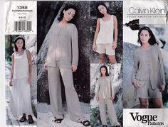 Vogue American Designer Pattern  Calvin Klein 1358 Jacket