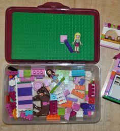 DIY travel lego case- perfect travel day activity