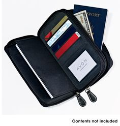 Organizational Super Wallet- your essentials, perfectly organized: - 2 zip compartments - storage for keys and other essentials - pockets for cash, passport, photos, receipts and more - 5 credit card slots - ID window Shop online at tashina.avonrepresentative.com