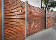 Image result for contemporary metal frame gates with wood