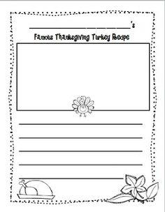 Kindergarten Kel: Gobble, Gobble! Thanksgiving Literacy Center Ideas and Freebie!