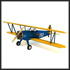 Stearman (Boeing) Model 75 PT-17 Biplane Free Aircraft Paper Model Download - http://www.papercraftsquare.com/stearman-boeing-model-75-pt-17-biplane-free-aircraft-paper-model-download.html