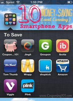 List of the 10 BEST money-saving (and earning) apps for your smartphone! Don't go shopping without them!