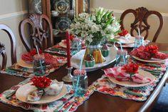 Tablescape Thursday:  The Family Dinner Table