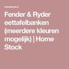 Fender & Ryder eettafelbanken (meerdere kleuren mogelijk) | Home Stock