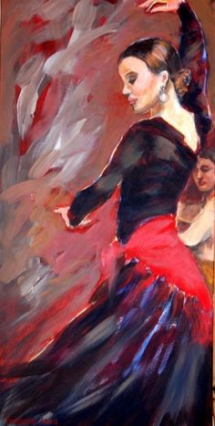 Discover great art by contemporary artist Isabelle Jacq Gamboena. Browse artworks, buy original art or high end prints. Dance Paintings, Indian Art Paintings, Cool Paintings, Tango Art, Acrylic Portrait Painting, Art Original, Human Art, Mexican Folk Art, Oeuvre D'art