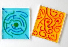 CD Case Mazes/Labyrinth - what a fun way to recycle empty CD cases!