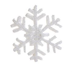 """The Jolly Christmas Shop - Raz Large White and Silver Snowflake 8.5"""" Christmas Tree Ornament, $9.99 (http://www.thejollychristmasshop.com/raz-large-white-and-silver-snowflake-8-5-christmas-tree-ornament/?page_context=category"""