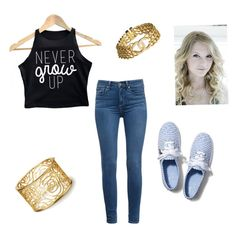 """""""Never Grow Up"""" by karaawesome30 on Polyvore featuring Jennifer Zeuner, Keds, Paige Denim and Chanel"""